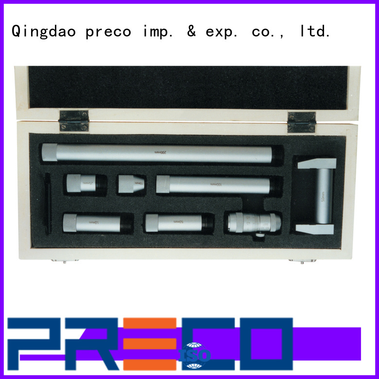 PRECO threepoint mechanical micrometer from manufacturer for factory
