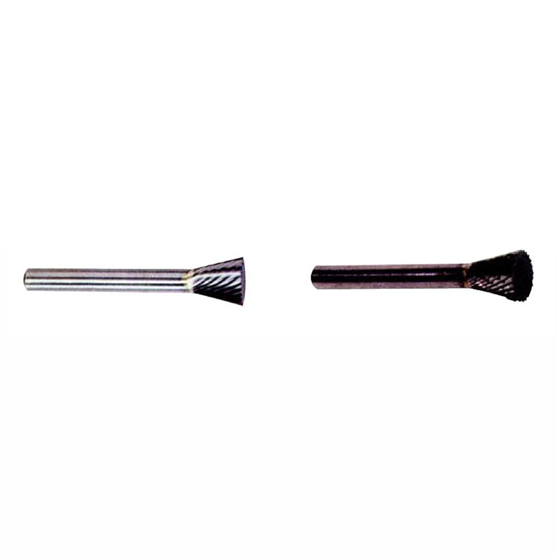 Solid Rotary Burr Set -Shape N-Inverted Cone