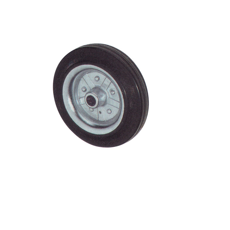 Industrial Rubber Casters Wheel With Steel Body