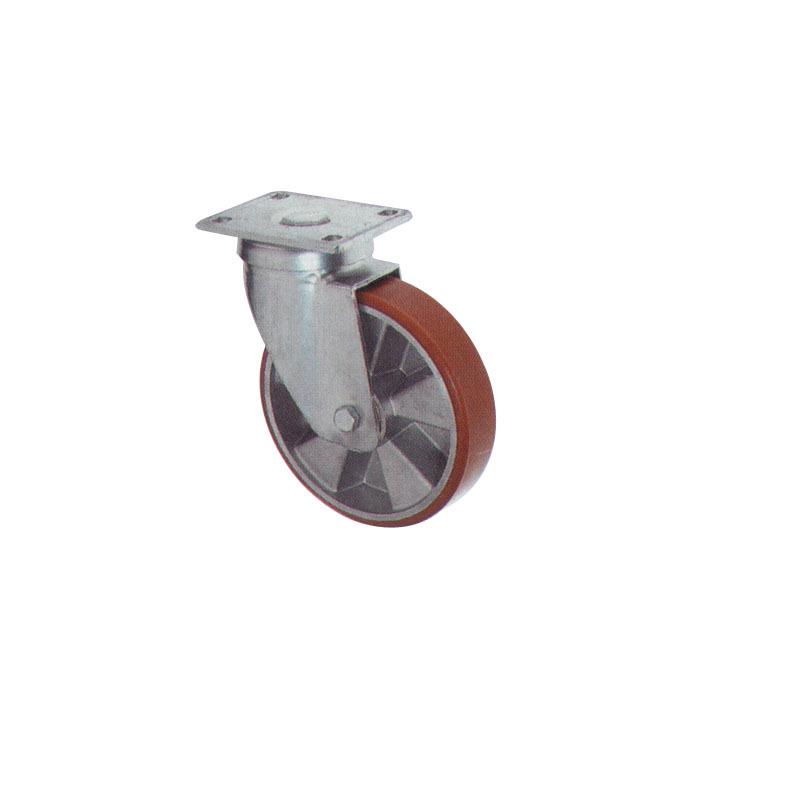 Swivel Polyurethane Caster Wheel With Cast Al Body