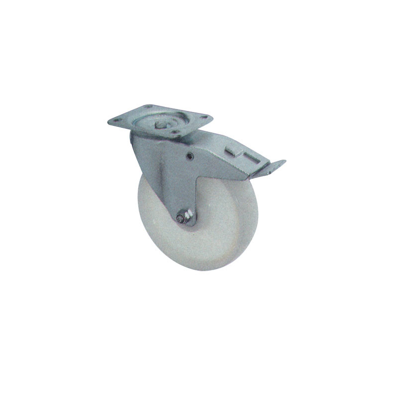 Double Brake Swivel Polyamid Casters And Wheels With Steel Body