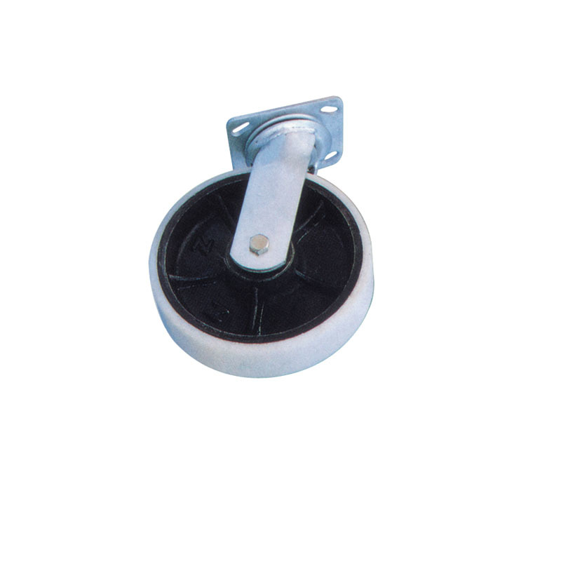 Heavy Duty Swivel Casters Nylon Wheel With Cast Iron Hub