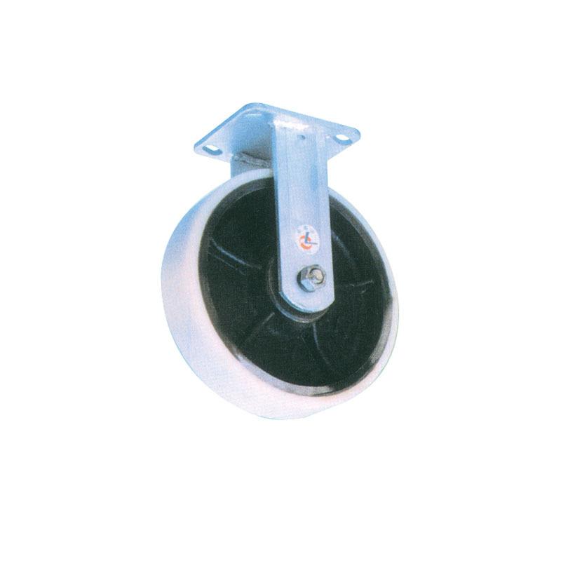 Heavy Duty Rigid Nylon Caster Wheel With Cast Iron Hub