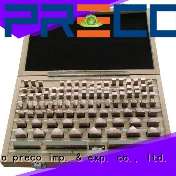 PRECO inch metric gauge block set factory for Caliper