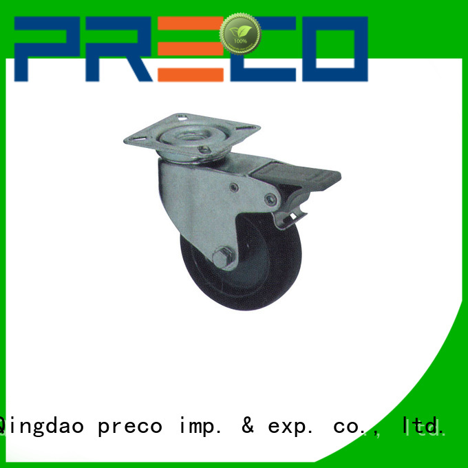 PRECO hot recommended rubber wheels chinese manufacturer For Furniture Wheels