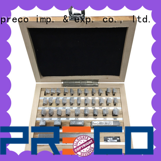 PRECO round steel gauge block set company for Caliper