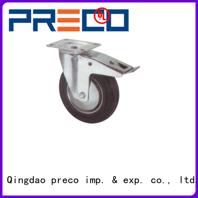PRECO hub rubber caster wheels heavy duty China Factory For Furniture Wheels