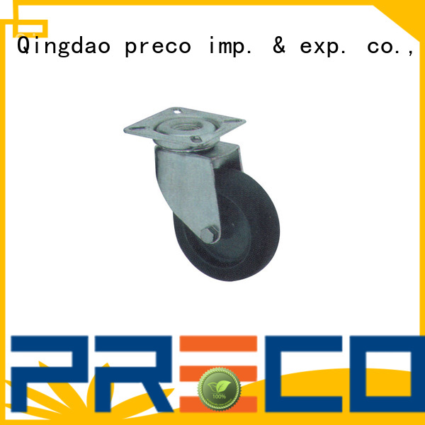 PRECO iron swivel rubber wheels manufacturer For Furniture Wheels