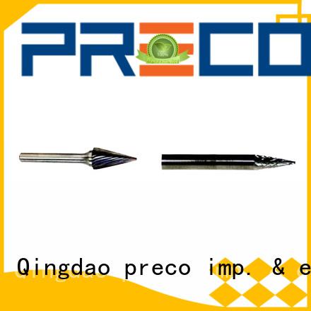 PRECO bitshape dremel carbide burr bits factory for cutting metal