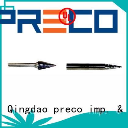 PRECO wholesale tungsten carbide rotary burr set company for work piece drilling