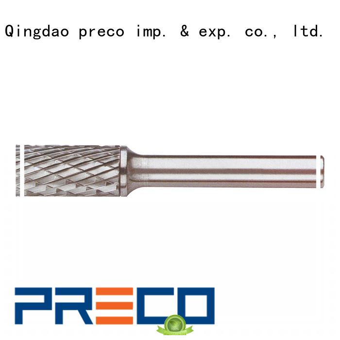 PRECO 6mmshankcylindrno die grinder bits for steel customized for cutting metal