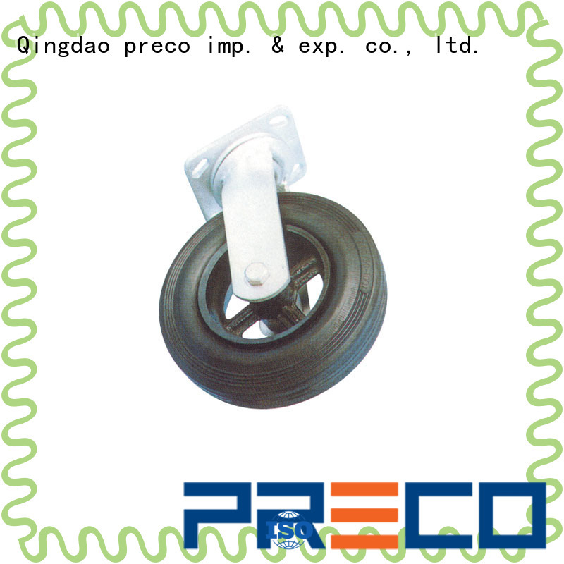 PRECO rubber large caster wheels supply For Furniture Wheels
