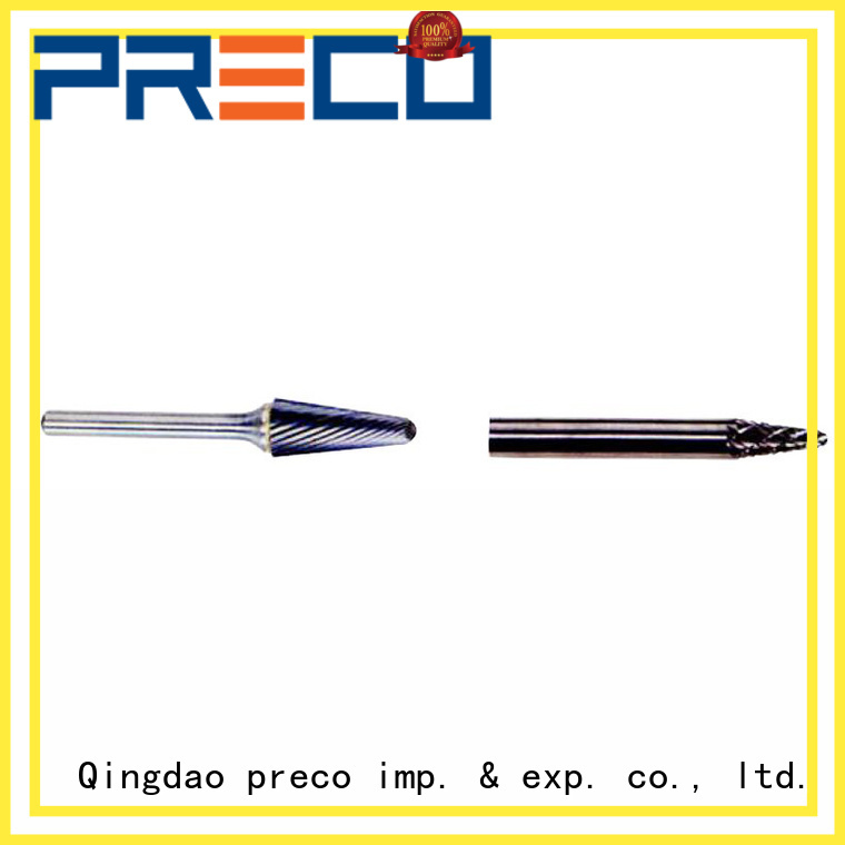 PRECO accurate carbide burr bits for work piece drilling