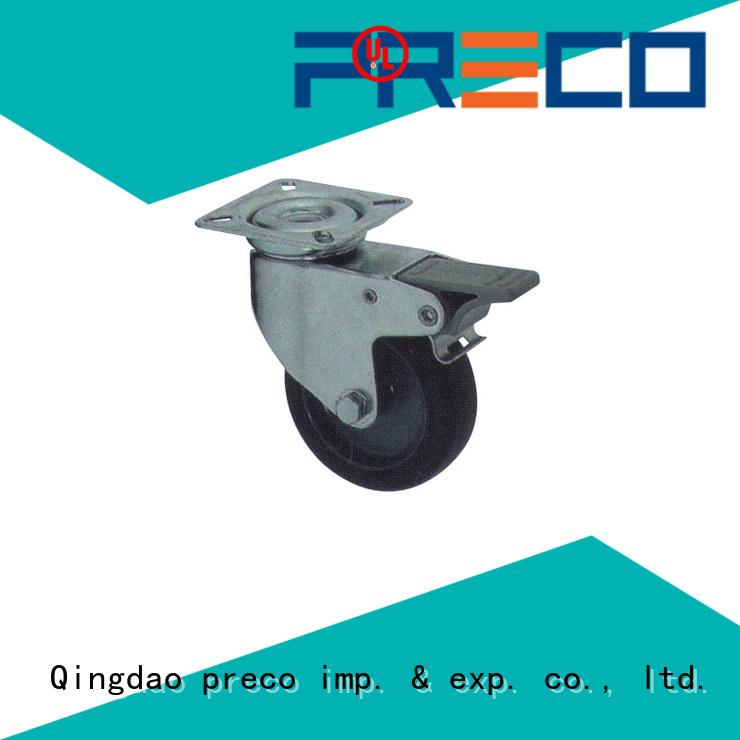 PRECO rigid swivel rubber wheels manufacturers for car