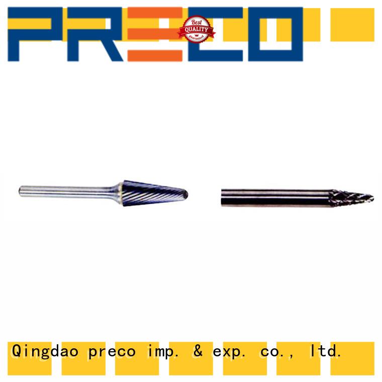 PRECO high-quality carbide burr bits supply for work piece drilling