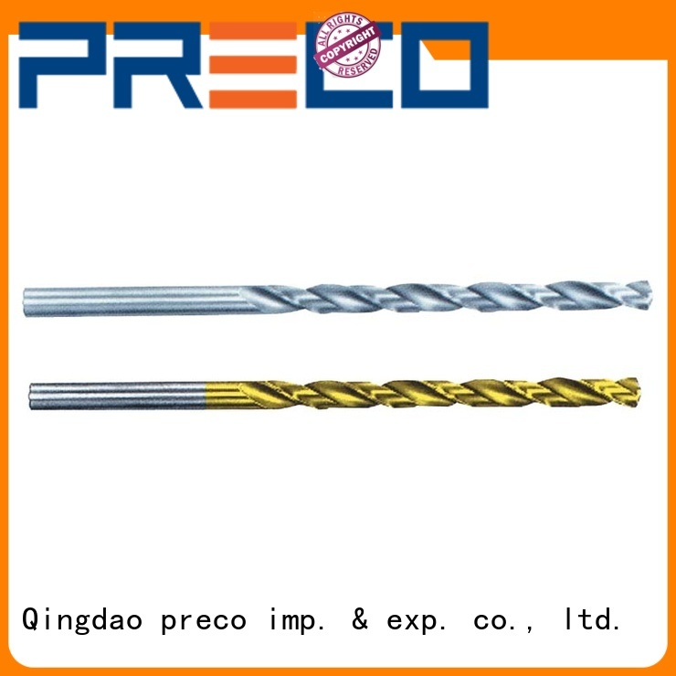 PRECO flat end drill bit custom made for outside