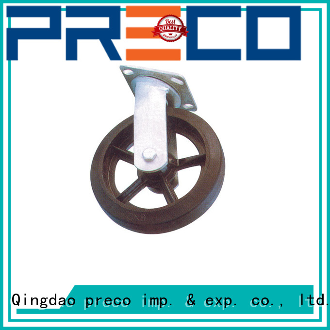 PRECO temperatureresistant rubber wheels quick transaction For Hospital