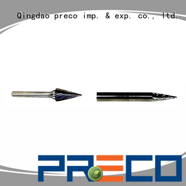 PRECO accurate tungsten carbide drill bits customized for work piece drilling
