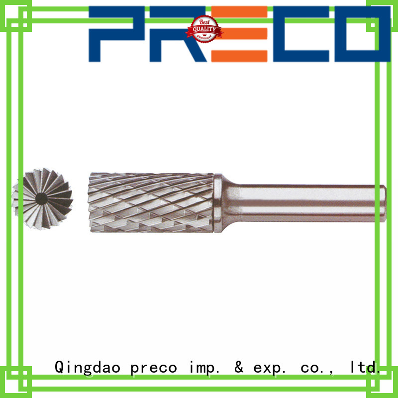 PRECO new round bur for business for work piece drilling