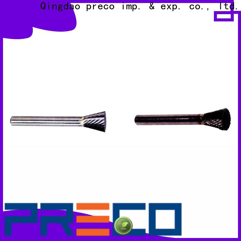 PRECO deg rotary burr tool company for cutting metal