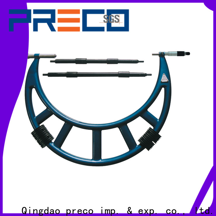 PRECO ratchet dial micrometer chinese manufacturer for depth measurements