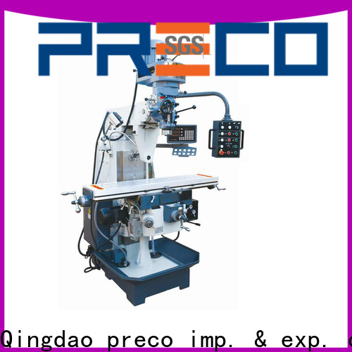 PRECO geared vertical turret milling machine online for metal