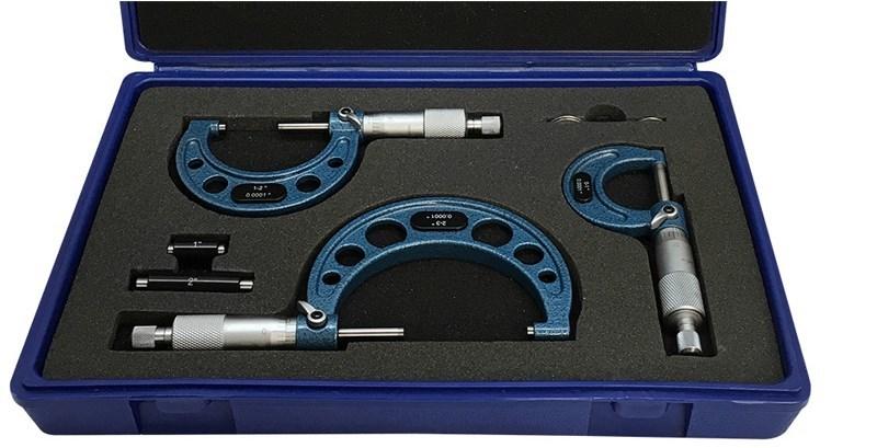 external micrometre, outside micrometer set, outside micrometer caliper