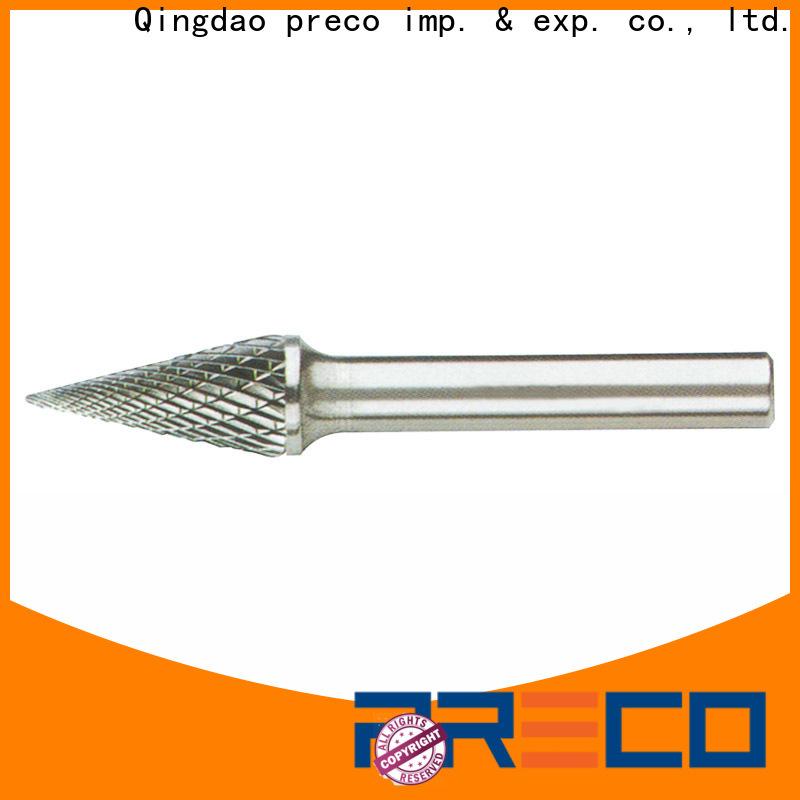 PRECO custom round carbide bur for cutting metal