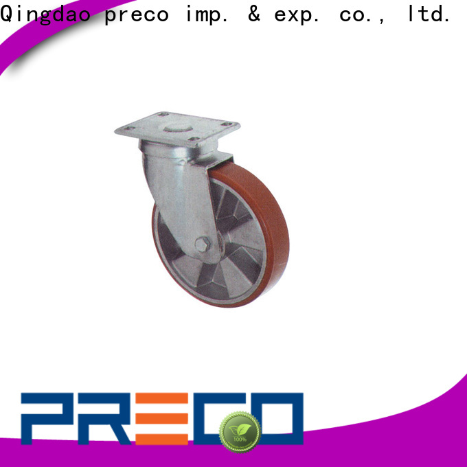 PRECO double swivel rubber wheels manufacturer For Furniture Wheels