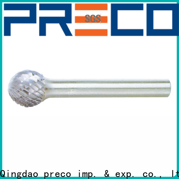 PRECO best tungsten carbide rotary burr set manufacturers for cutting metal